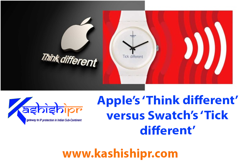 Apple's 'Think different' versus Swatch's 'Tick different'